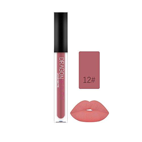 Lipgloss,Rabatt,PorLous 2019 Beliebt Schönheit Der Frauen Wasserdichte Langlebige Lippenflüssiger Mattlippenstift Lipglanz Make Up Feuchtigkeitsspendend 12