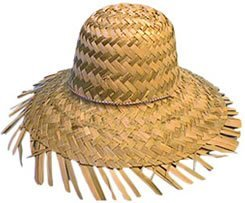 Hat Straw Beachcomber for Fancy Dress Party Accessory by Just For Fun