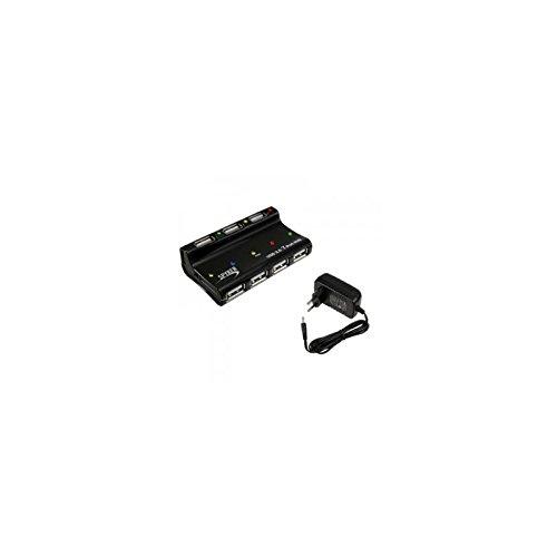 non-hub-7-ports-usb-alim-secteur-noir-spyker-ean-3700284617310