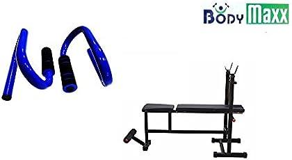 Body Maxx 4-in-1 Multi Weight Blend Bench & Push Ups Bar