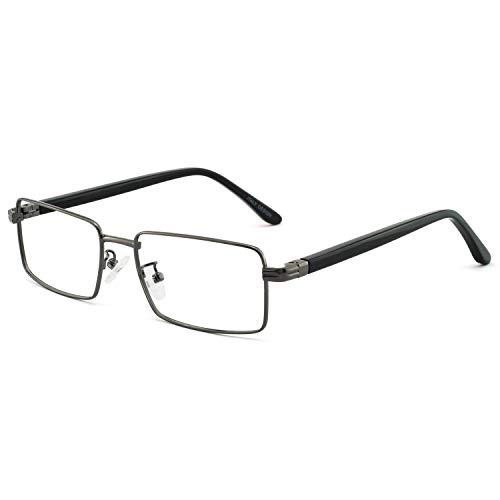 OCCI CHIARI Verschreibungspflichtige Brillenrahmen Optische Gläser Herren optische brille Brille Metallrahmen vintage brille mit flexiblen Feder Scharnieren und klaren Linsen Men