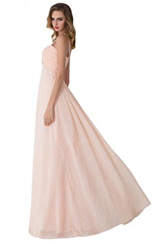 Sunvary Chiffon A linea con strass e retro aperto-per abiti da sera sera Bianco