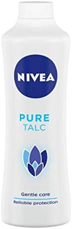 NIVEA Talcum Powder for Men & Women, Pure, For Gentle Fragrance & Reliable Protection Against Body Odo