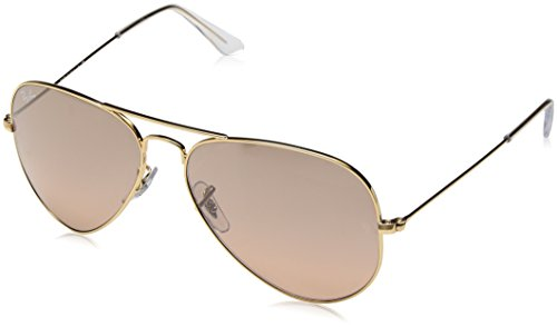 RAY-BAN RB 3025 AVIATOR SUNGLASSES (58 mm, 001/51 ARISTA CRYSTAL/GRADIENT BROWN)