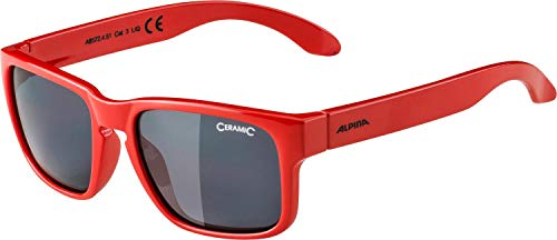 Alpina Unisex Jugend MITZO Sonnenbrille rot, One Size