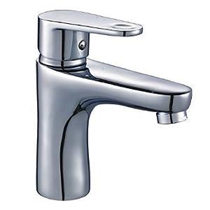 DP Grifería ABE-01 Grifo monomando de lavabo, Plateado