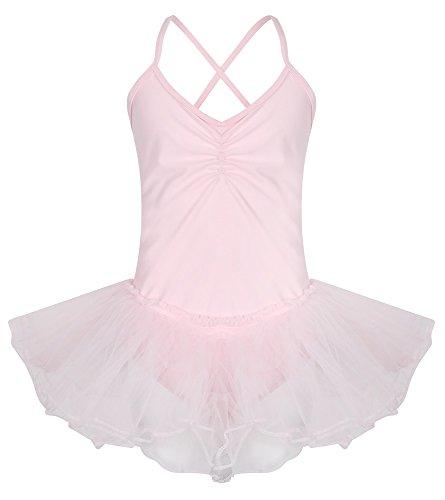 Kostüm Tanz Party - Mädchen Fairy Tutu Leotard Ballett-Tanz Kostüm Party Gymnastikanzug (Pink, Hot pink, Grün, Rot, Weiß, Gelb, Blau) 3und 9Jahren Gymnastikanzug