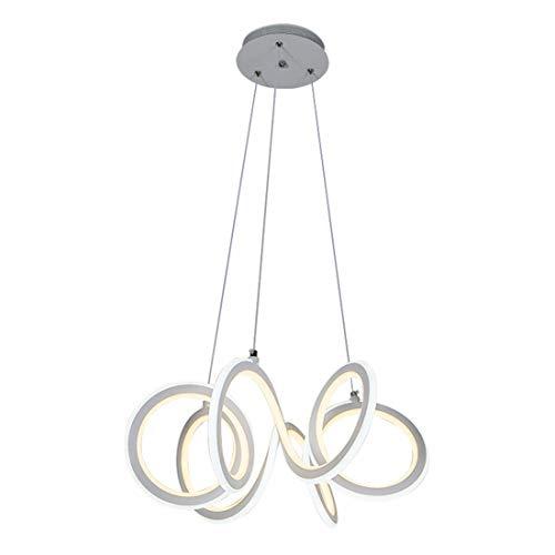 Zceillamp Moderne LED Deckenbeleuchtung Acryl Schatten Spiralring Design - Kreative Pendelleuchte Restaurant Cafe Loft Schlafzimmer Wohnzimmer Zeitgenössische Dekoration Licht -