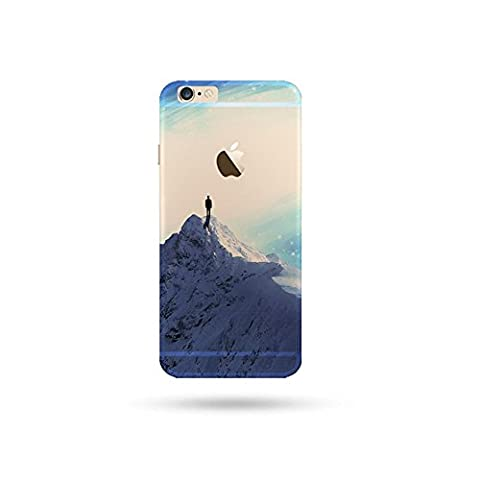 Jinberry Soft TPU Slim Case with Dust Plug for iphone5s / SE Plus Colourful Printing Pattern, Ultra Thin Fit 0.5mm Scratch Resistant Silicone Shell for Apple iphone 5S / SE - Snow Mountain