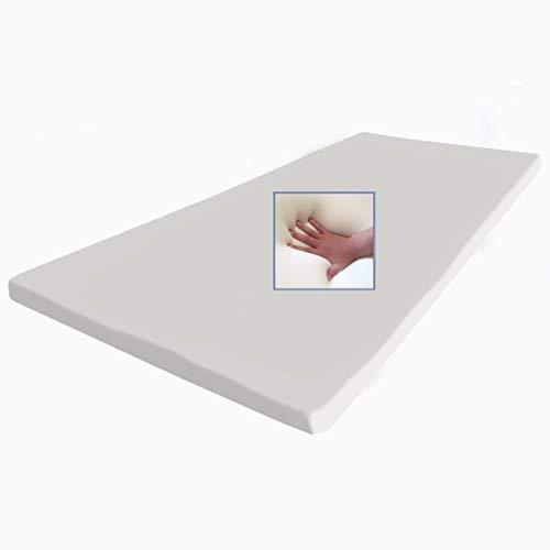 supply24 Gel/Gelschaum Matratzenauflage Topper 90 x 190 cm Höhe 5 cm Auflage für Matratze mit abnehmbaren Baumwollbezug
