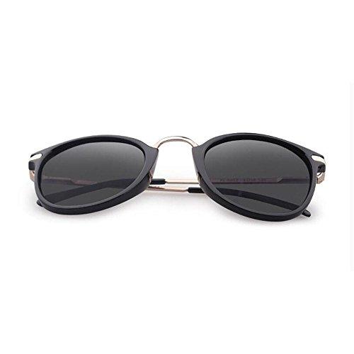 Sonnenbrillen Sonnenbrille weibliche Persönlichkeit polarisiertem Licht Sonnenbrille Weibliche rundes Gesicht Brille UV Schütze Deine Augen (Farbe : B)