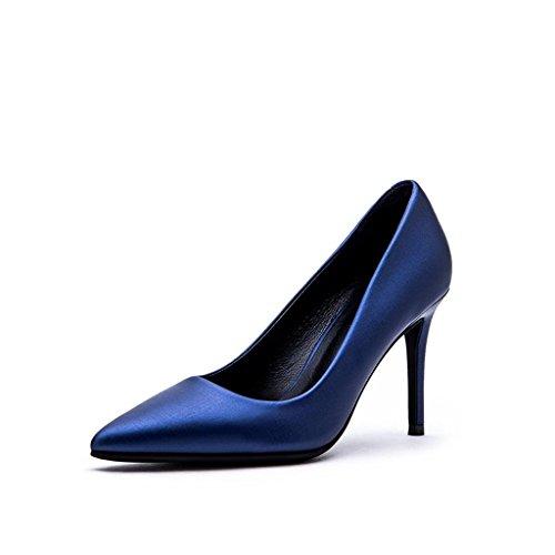 Chaussures à talons hauts bleus 9.5cm