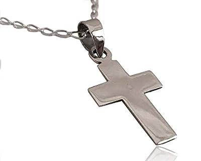 Collier croix argent 925 de 3 cm de longueur handmade fait main