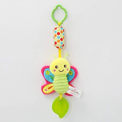 Nihlsen Babybett hängen Spielzeug Plüsch Auto hängen Komfort Kinderbett hängen Gummiring Babybett Glocke Eltern-Kind-Interaktion - Multi-Colors -