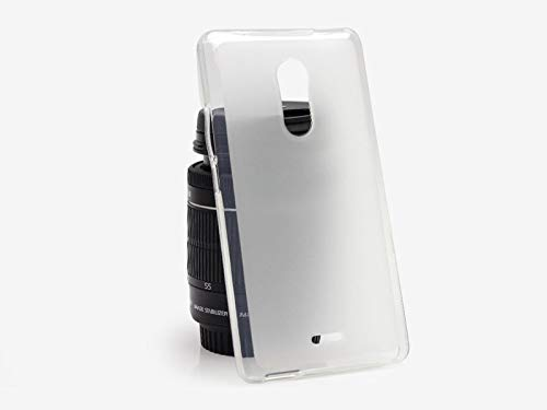 etuo Handyhülle für ZTE Blade V580 - Hülle FLEXmat Case - Weiß - Handyhülle Schutzhülle Etui Case Cover Tasche für Handy