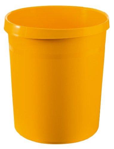 HAN Papierkorb GRIP, 18 Liter, mit 2 Griffmulden, extra stabil, rund, gelb