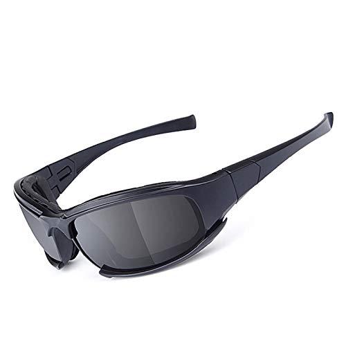 Bishilin Motorradbrille Retro Sportbrille Nacht Arbeitsbrille Brillenträger Schießbrille Sportschützen Schwarz