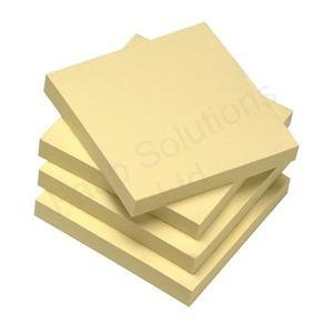 5 Star 75x75mm Re-Move Repositionable Recycled Notes - Yellow (Pack of 12)