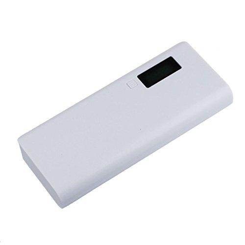 home Energie Bank Batterie Kasten Ladegerät 5V 2A 18650 für iphone6 Mobiltelefon, Powerbank Batteriefach (Weiß) (Energie-bank-batterie-kasten)
