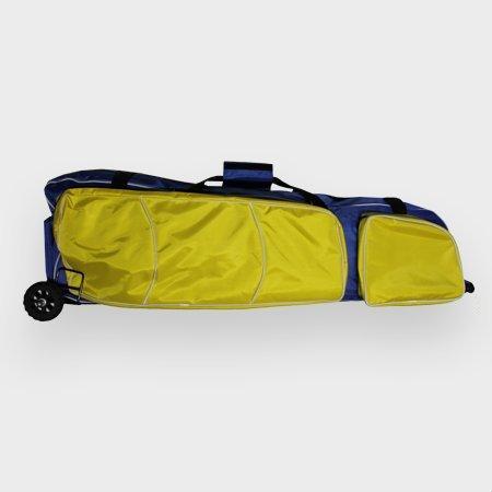 Fechttasche Rollbag (Blau mit gelben Taschen) -