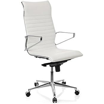 Bürostuhl Weiß Leder
