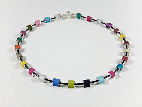 Polariskette bunte Würfel Kette Collier Perlenkette Halsschmuck Weihnachtsgeschenk