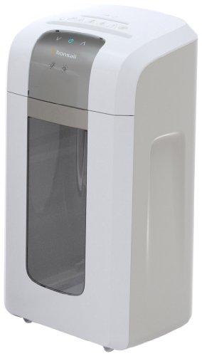 Bonsaii 4S16 Aktenvernichter, bis zu 6 Blatt Papier, Mikroschnitt (Sicherheitsstufe P-5), mit CD - Shredder, 1 Stunde Dauerbetrieb (entspricht ca. 2400 DIN A4 Seiten) - geeignet für Datenschutz nach neuer Verordnung (DSGVO 2018), weiß/silber