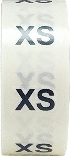 Claro Circulo Extra Pequeña XS Talla de Ropa Pegatinas, 19 mm 3/4 Pulgada Redondo, 500 Etiquetas en un Rollo