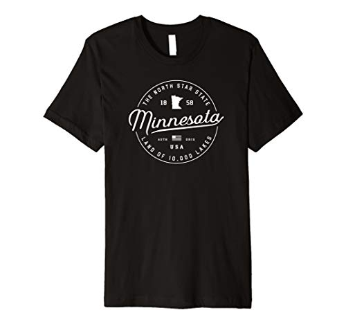 Minnesota T-Shirt, US State Reise Urlaub Shirts MN USA TE -