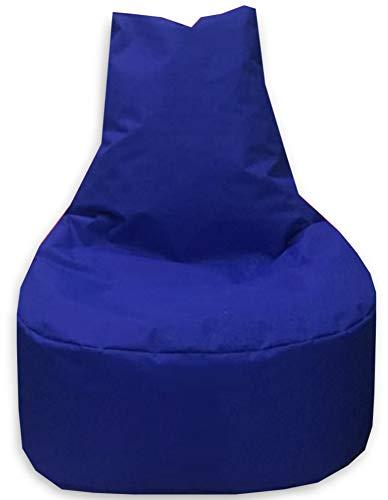 Sitzbag Sitzsack Sessel XL - XXL für Kinder und Erwachsene - In & Outdoor Sitzsäcke Kissen Sofa Hocker Sitzkissen Bodenkissen (XXL - 80cm Durchmesser, Blau)