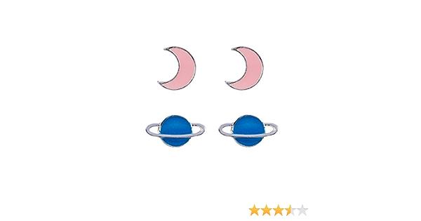 Selbstleuchtend 297-650 rosa t/ürkis Nachtleuchtend SIX Kids Kinder Schmuck pink Filigrane Halskette mit Mond Stern und Herz Anh/änger