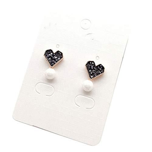 1 Paar Kristall-Herz-Perlen-Ohrring-Personality-Kristallherz-Tropfen-Bolzen-Ohrring-Geschenk Schmuck Regard L - Kristall-herz-bolzen-ohrringe