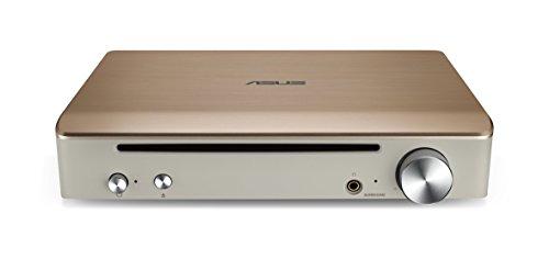 Asus SBW-S1 PRO Impresario externer Blu-Ray BDXL Brenner (integrierter Soundkarte, BD-R (SL/DL) DVD±R, DVD±R DL, DVD-RAM, USB 2.0, inkl. Cyberlink Power2Go, PowerDVD 12 Blu-Ray 3D) gold