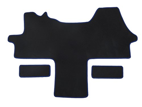 Fußmatte 1614 - Autoteppich von Alpha-Tex (1-tlg. + 2 Einstiege in Qualität Classic schwarz, Umrandung schwarz)