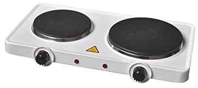 Fine Elements Electrical Double Hot Plate, 2500 Watt, White
