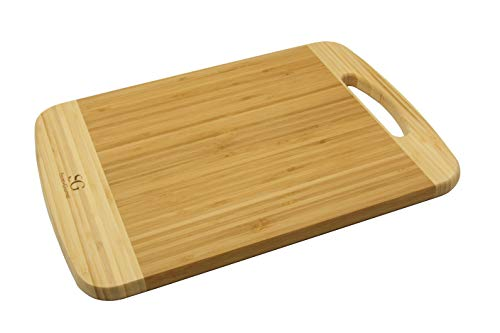 SG Bambus Schneidebrett, Schneidbrett, Küchenbrett, Tranchierbrett, 35 cm x 25 cm x 1,6 cm
