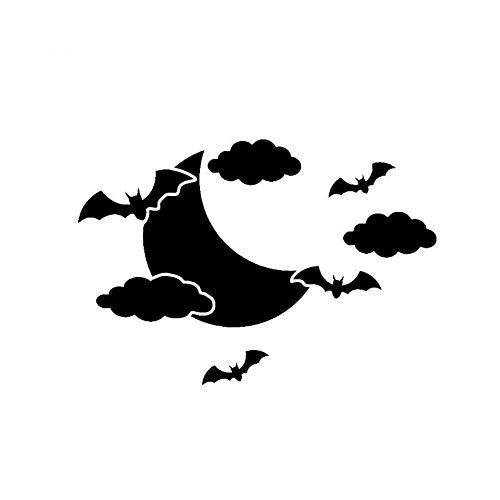 JXAA 14,3 * 9,9 Interessante Halloween Bat Party Decor Auto Aufkleber Vinyl Zubehör Silhouette Hohe Qualität