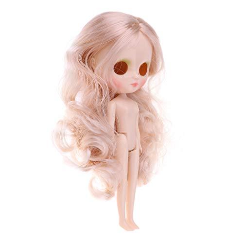 KESOTO 20 cm de Piel Blanca Cuerpo Cabeza Desnudos Peluca para Medio Blythe Neo Muñeca Personalizada - #4