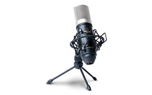 Marantz Professional MPM1000 Großmembran Kondensatormikrofon mit Windschutz, Shockmount, Tripod Ständer und XLR Kabel