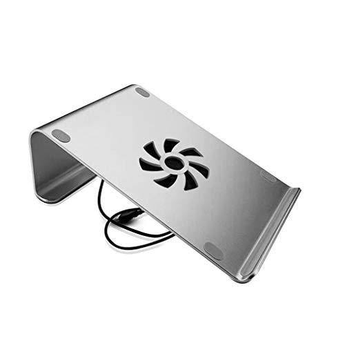 HANXIAOL-3C Laptopständer, Ergonomischer Tragbarer Laptop-Kühler Aus Aluminiumlegierung, Geeignet Für Computer Unter 17 Zoll, 260 Mm × 186 Mm (Color : Fan-Silver)