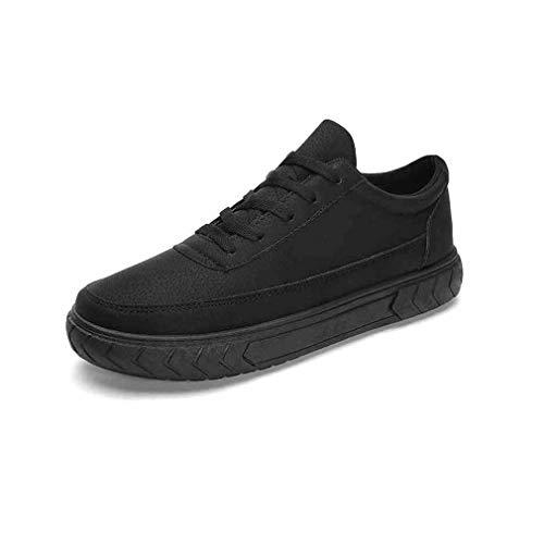 YCSD Männer PU Casual Schuhe Arbeitsschuhe Rutschfeste Wasserdichte Und Ölbeständige Küche Spezial Schuhe Dicke Unterseite, Schwarz (Farbe : SCHWARZ, größe : EU42/UK8.5/CN43) - Detail Loafers