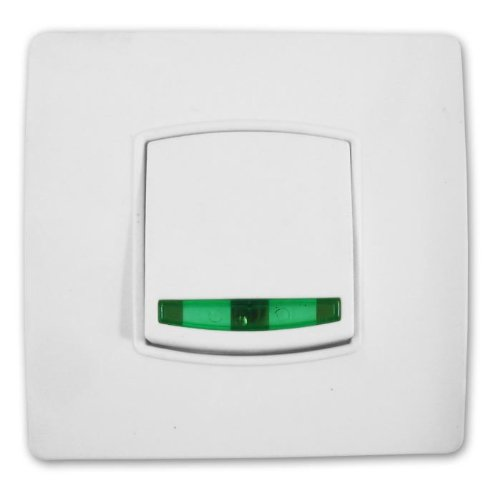 Zenitech - Interruptor basculante, color blanco