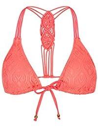 Accessorize Soutien-gorge de bikini forme triangle en macramé dans le dos - Femme