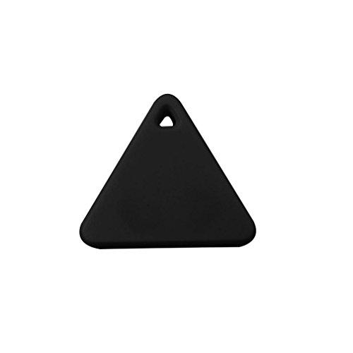 sunnymi Bluetooth Smart GPS Mini Tag Tracker Haustier Kind Brieftasche Schlüssel Finder Locator Alarm (GPS, Schwarz)