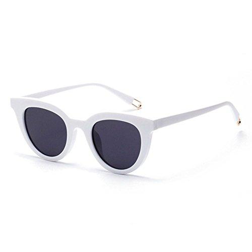 H.ZHOU Sonnenbrillen Katzenaugen-Sonnenbrille weibliches Weinlese-rundes Gesichts-langes Gesichts-Glas-Sonnenbrille-Frauen (Farbe : 4)