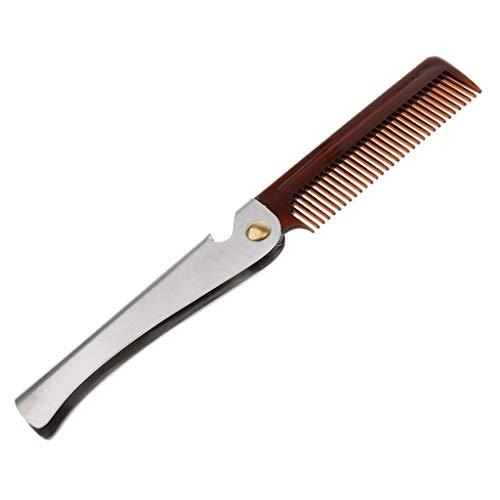 MagiDeal Hombre Peine de Barba Cepillo Afeitado Peluquría Pincel de Bigote
