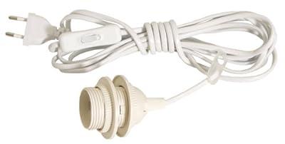 Beleuchtung für Weihnachtssterne E27 Kippschalter 4 m Kabel Weiß von BRUBAKER - Lampenhans.de