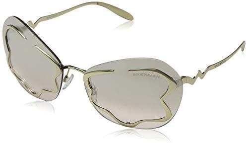 Emporio Armani 0EA2060 Damen Sonnenbrille,Gold (Pale Gold),65