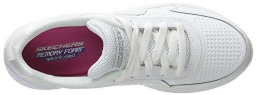 Skechers Hi Glitz-Scholar Style, Scarpe da Ginnastica Bambina bianca
