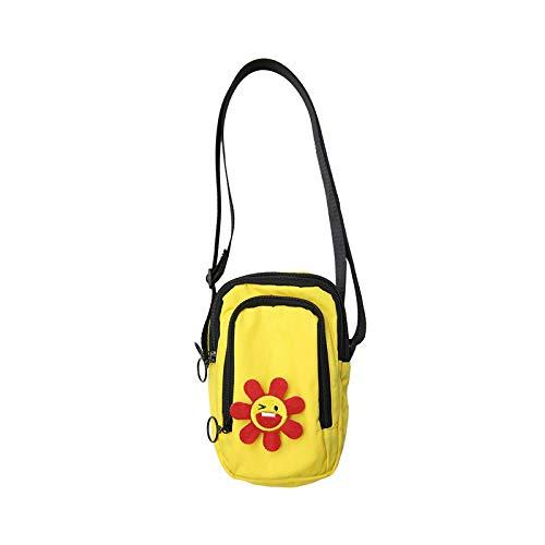 QWKZH Handytasche Frau Land Diagonale Kreuz Tasche Persönlichkeit Sonne Blume Nylon Umhängetasche Street Bag -